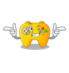 Wink video game controller shaped on charcter vector