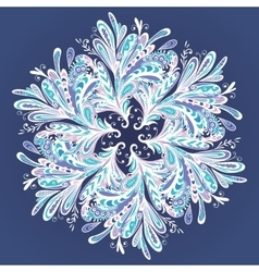 Winter Mandala vector image