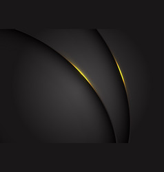 yellow light on dark grey grey metallic curve vector image