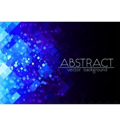 Bright blue grid abstract horizontal background vector image