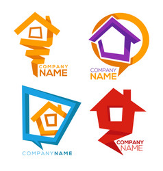 buy your own home collection of property vector image