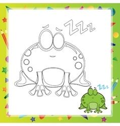 Cartoon frog vector image vector image