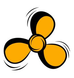 Fan icon cartoon vector