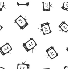 tv icon seamless pattern background business flat vector image