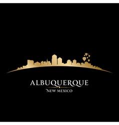 Albuquerque New Mexico city skyline silhouette vector image vector image