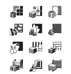 Construction materials and building details vector image vector image