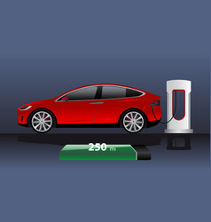 modern electric car vector image