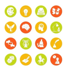 Muse icon flat vector