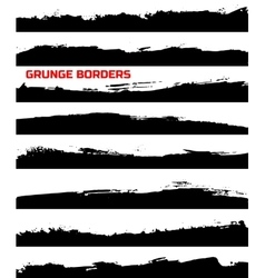 Set of grunge borders vector image vector image