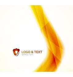 Sunny blur yellow wave design vector image