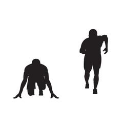 Black silhouette of runner vector image