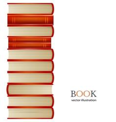 heap of orange books isolated on white background vector image