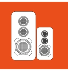 speakers columns isolated design vector image