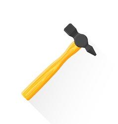 flat construction hammer icon vector image
