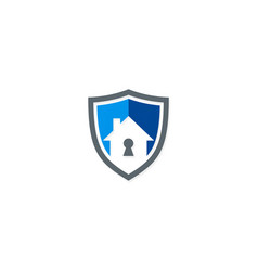 secure house shield logo vector image
