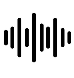 sound icon on white background sound sign vector image vector image