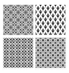 tribal seamless black pattern set vector image