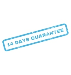 14 days guarantee rubber stamp vector
