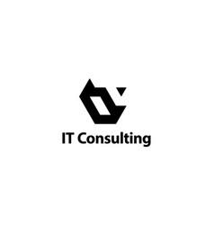3d letter i and t logo design concept vector