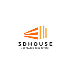 3d perspective house home mortgage architecture vector image
