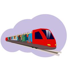 An abstract train vector