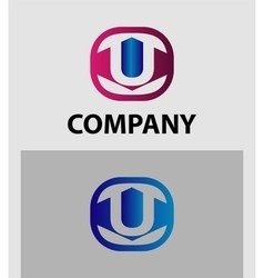 An attractive Letter U logo symbol vector