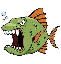 Angry fish vector