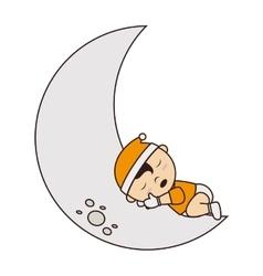 baby sleep cute small design vector image