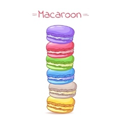 Beautiful of a French dessert macaroons vector image
