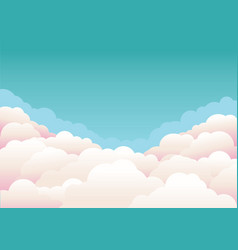 Blue sky with clouds nature background vector