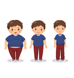 Boy with different weights vector