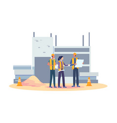 building industry concept vector image