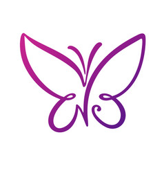 butterfly logo template vector image