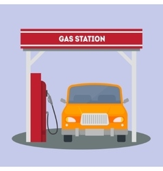 Car at a Gas Station vector image