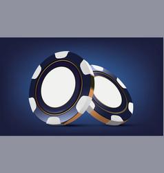 Casino poker chips casino game 3d chips online vector