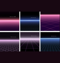 collection abstract backgrounds vector image
