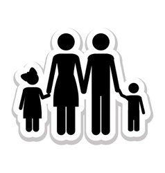 Conventional family pictogram icon image vector