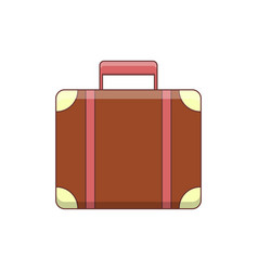 cute colored travel case vector image