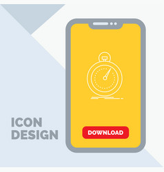 Done fast optimization speed sport line icon in vector