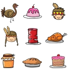 Doodle of object thanksgiving vector