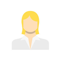 employee woman related icon vector image