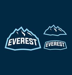everest mascot logo design vector image