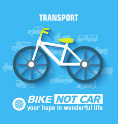 flat bike background concept vector image