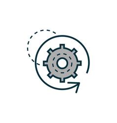 gear work tools engineering icon vector image