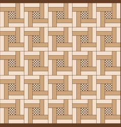 Geometric seamless wooden parquet floor pattern vector
