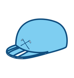 Golf sport hat cap vector