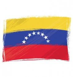 grunge Venezuela flag vector image