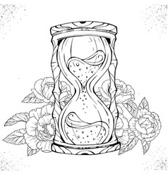 Hand drawn hourglass vector