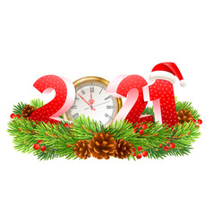 happy new year 2021 numbers vector image