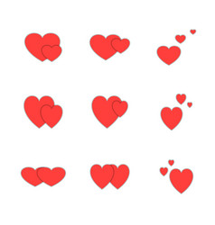 icon set valentines day love sign vector image